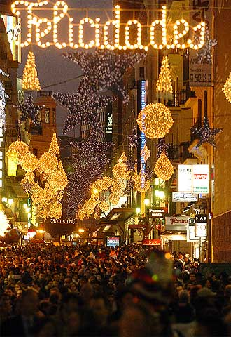 Luces navideñas en Madrid