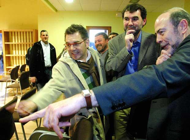 (Foto de www.elpais.com) Superpiñeiro, Quintana e Paco Garcá