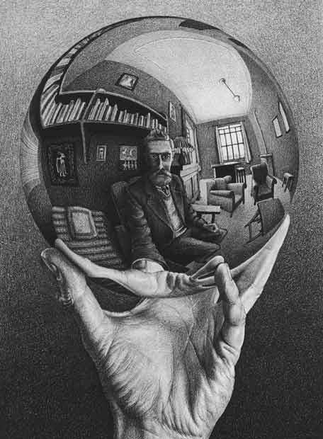 Autorretrato', ilustración de M. C. Escher.- M.C. Escher