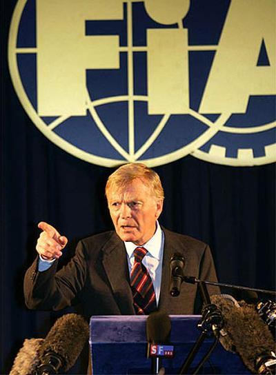 Max Mosley, presidente da FIA