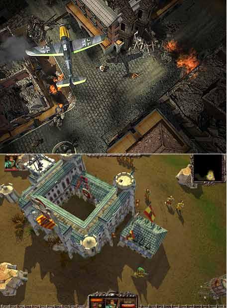 Dos imágenes del videojuego <i>Sombras de guerra.</i>