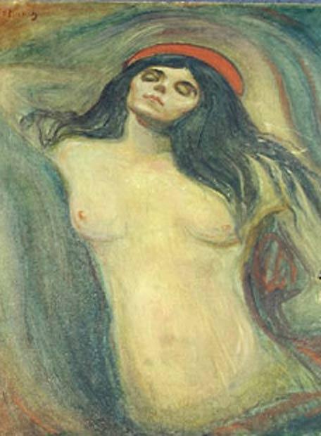 'La Madonna', de Munch (detalle)