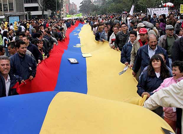 manifestación en Bogotá -AFP