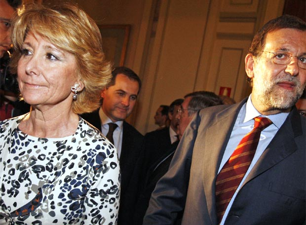 Aguirre seguida de Rajoy, ayer