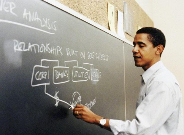 Obama, profesor