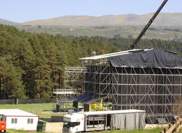 Escenario del concierto en Gredos