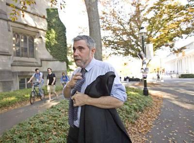 Paul Krugman esta semana en la Universidad de Princeton