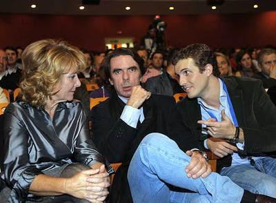 Esperanza Aguirre, José Maria Aznar y Pablo Casado