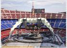 El escenario de U2 en el Camp Nou