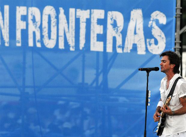 Juanes en el escenario