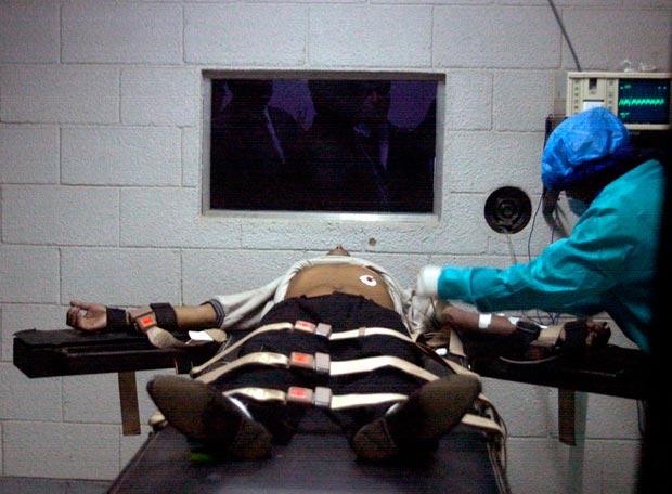 Pena de muerte Ejecución de una pena de muerte por inyección letal retransmitida por televisión en Ciudad de Guatemala (Guatemala) - AP - 11-10-2009
