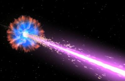 Explosión cósmica lejana