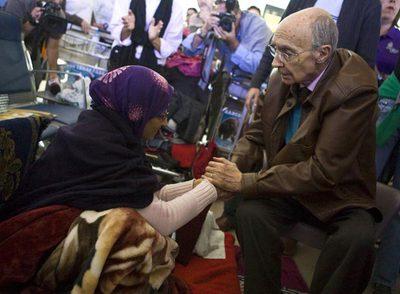 Saramago visita a Aminetu Haidar