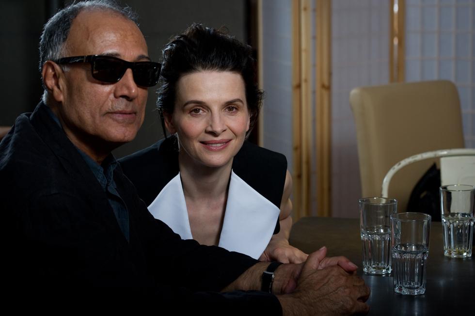 Binoche y Kiarostami
