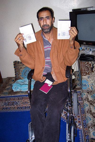Ahmed Gachbar Baillal en su casa de El Aaiún