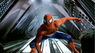 Un momento del musical Spiderman