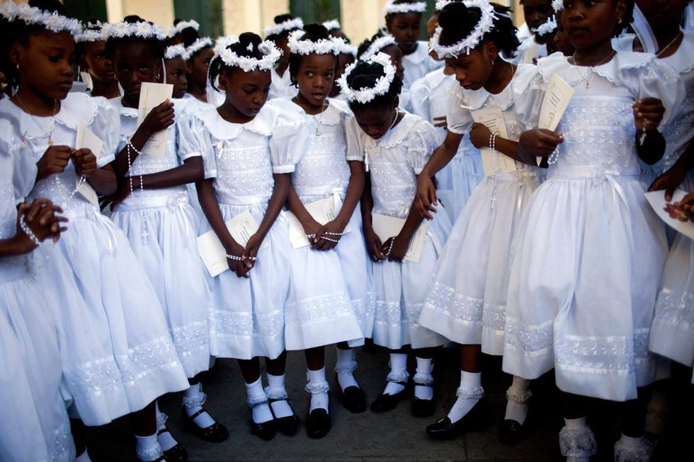 Primera comunión en Haití