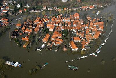 Inundaciones en Hitzacker, en 2006