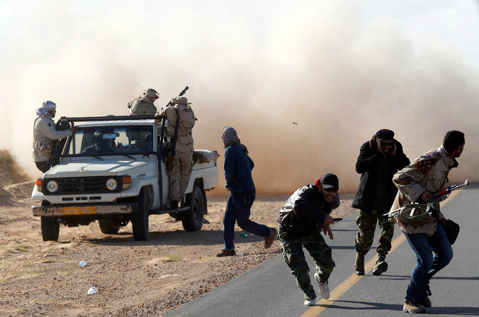 La batalla de Bin Yauad  - A cubierto
