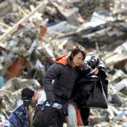 Supervivientes del terremoto de Japón