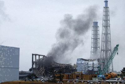 Una columna de humo en Fukushima.