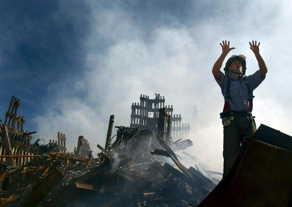 Los atentados del 11-S  - Trabajo entre los ruinas