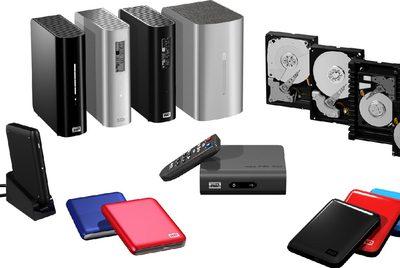 Diferentes aparatos con discos duros