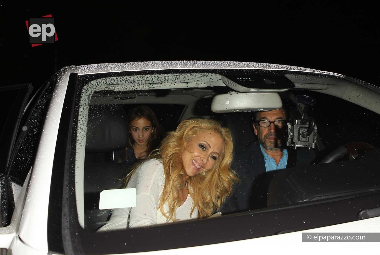 Ya con su familia en el auto, los Solis partieron a seguir disfrutando de Los Angeles