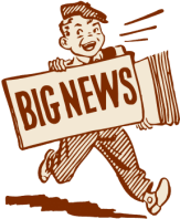 Graves' disease blog picture of cartoon paperboy big news