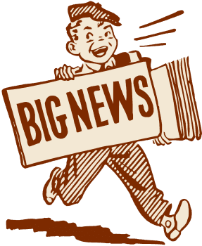 blog picture of cartoon paperboy big news