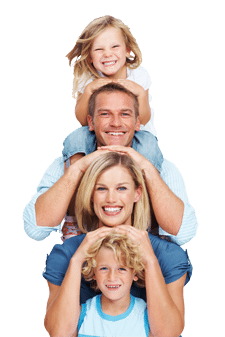 blog picture of family stacked on top of each other