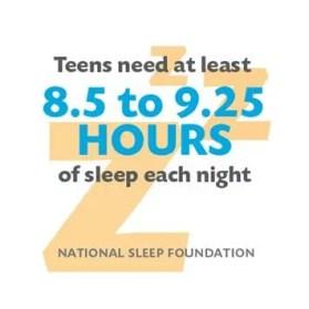 CDC: Los adolescentes necesitan más horas de sueño