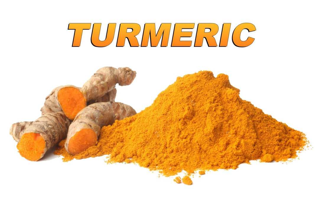 blog picture of turmeric root and powder