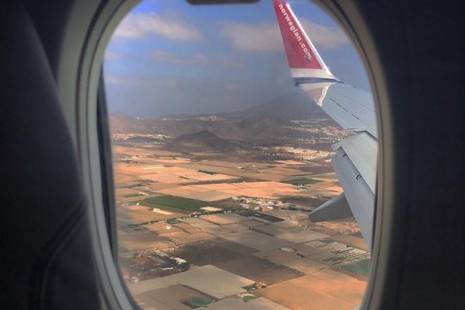 El vuelo Málaga-Tenerife tuvo una duración de dos horas y media aproximadamente (M. S.).