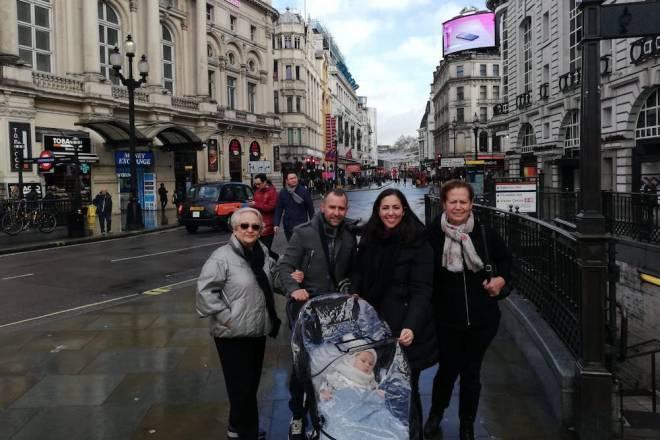 Estrenamos nuestra silla Hauck en Londres (M. S.).