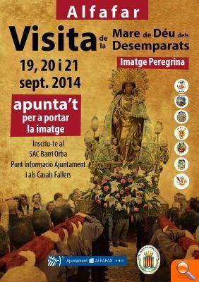 La Imagen Peregrina de la Virgen de los Desamparados visitará Alfafar