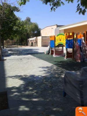 <br /><br /><br /><br /><br /><br /><br /><br /><br /> Finalizan las obras de adecuación del patio infantil del CEIP Orba