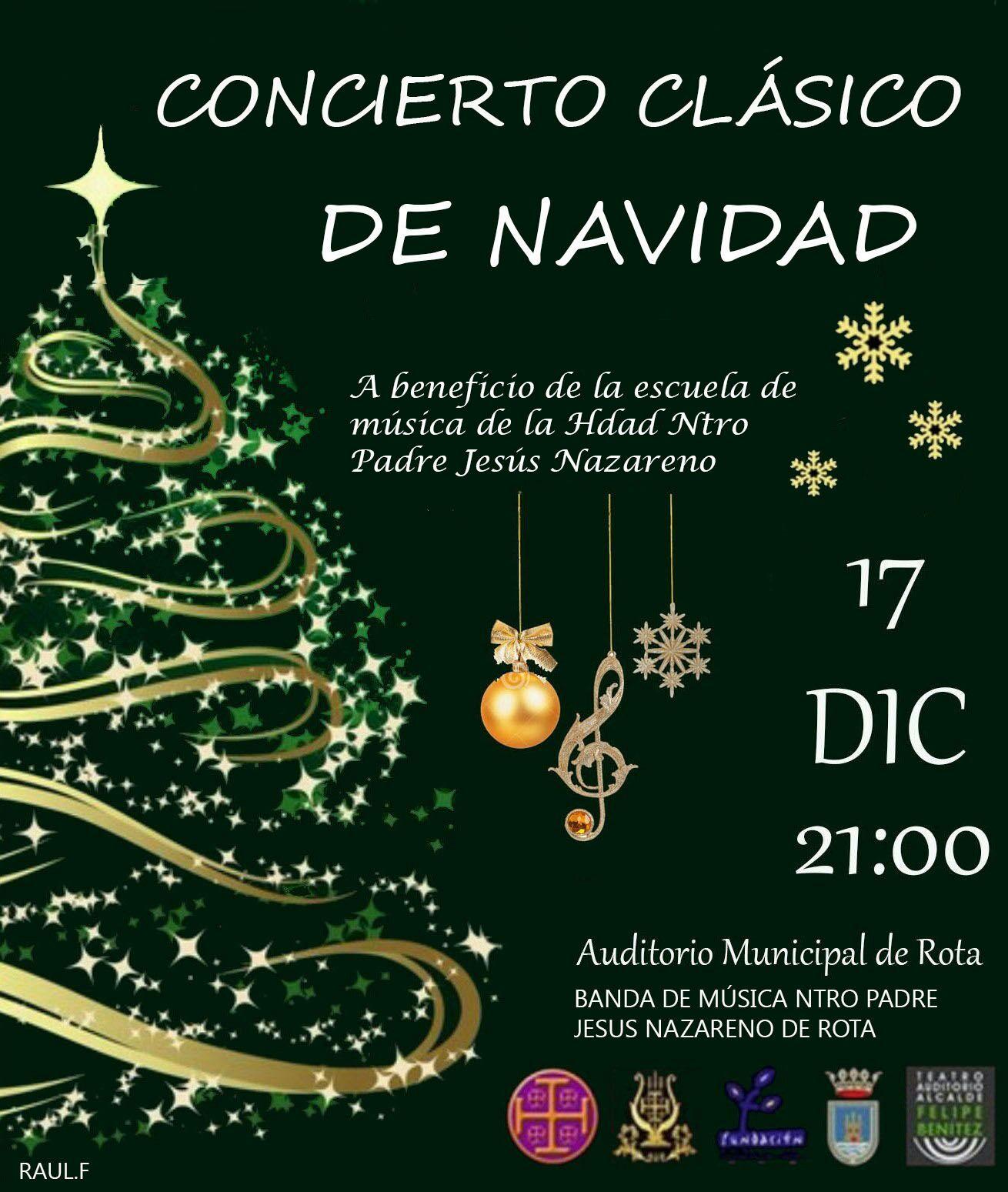 Concierto de Navidad a cargo de la Banda de Música Nuestro Padre Jesús Nazareno de Rota