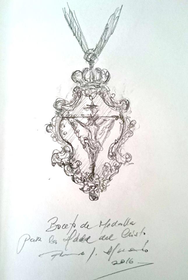 Fernando Aguado diseña la medalla que conmemora el Vía Crucis de las Hermandades de Jerez que presidirá el Cristo de la Expiración