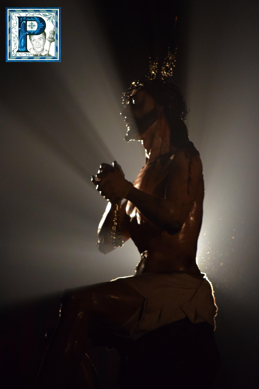 La subida del Señor de las Penas a su paso y el Vía Crucis del Señor de la Bondad y Misericordia desde el objetivo de Lucas Álvarez