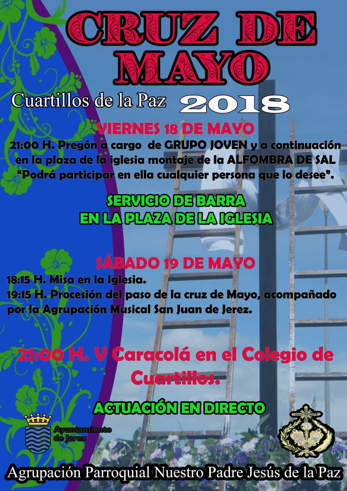Cruz de Mayo en Cuartillos organizada por la Agrupación Parroquial del Señor de la Paz