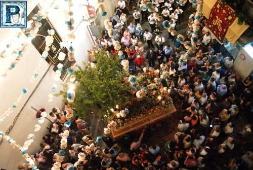 La procesión de la Divina Pastora de San Dionisio desde el objetivo de Lucas Álvarez