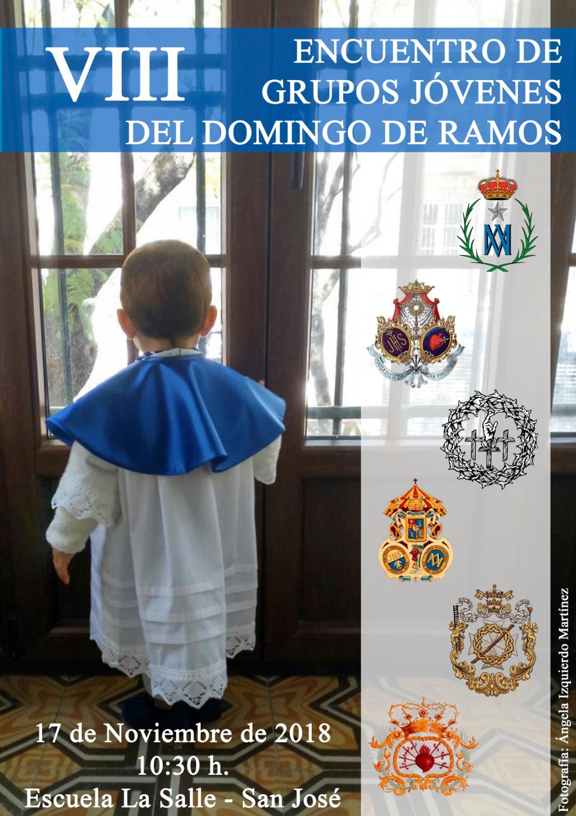 La Escuela de San José acogerá el VIII Encuentro de Jóvenes Cofrades del Domingo de Ramos