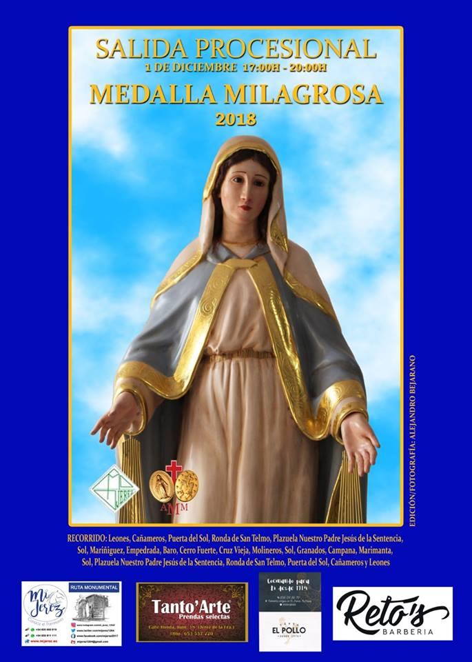 La Milagrosa procesiona hoy desde el Colegio Madre de Dios