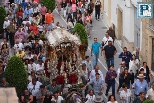 La llegada de la Hermandad del Rocío desde el objetivo de Lucas Álvarez