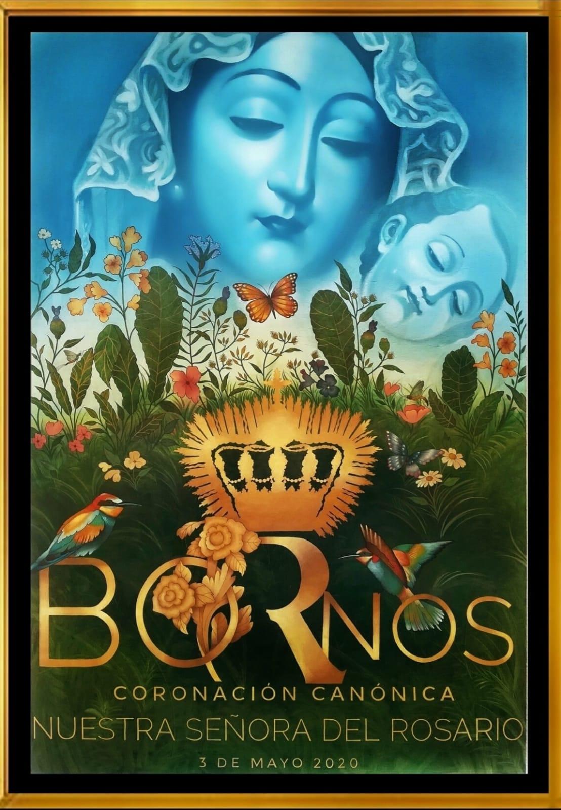 Daroal firma el cartel de la Coronación Canónica de la Virgen del Rosario de Bornos