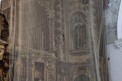 Se inicia el proceso de restauración del retablo mayor del Santuario San Lucas