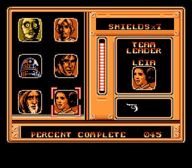 la alineación al completo... Chewbacca brilla por su ausencia