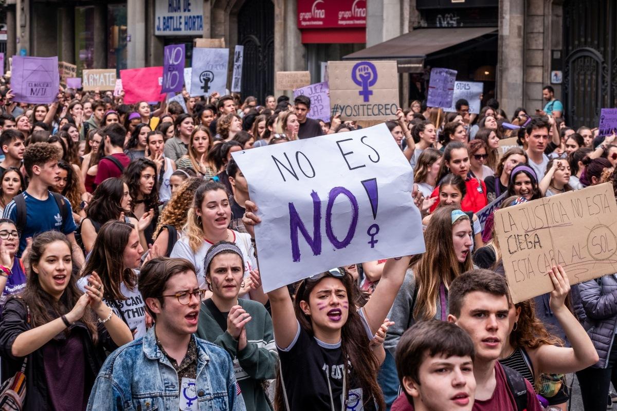 Manifestación contra la sentencia de La Manada de los Sanfermines