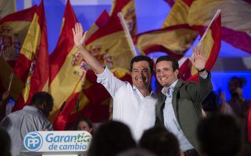 Juanma Moreno y Pablo Casado en Málaga